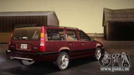 Volvo 850 Estate Turbo 1994 pour GTA San Andreas laissé vue