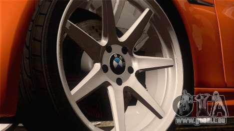 BMW M3 E92 2008 Vossen für GTA San Andreas Rückansicht