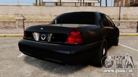 Ford Crown Victoria Stealth [ELS] pour GTA 4 Vue arrière de la gauche