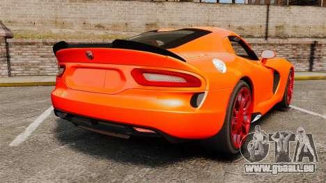 Dodge Viper SRT TA 2014 pour GTA 4 Vue arrière de la gauche