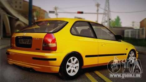 Honda Civic 1.4is TMC pour GTA San Andreas sur la vue arrière gauche
