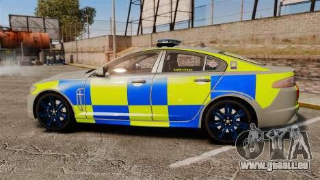 Jaguar XFR 2010 West Midlands Police [ELS] für GTA 4 linke Ansicht