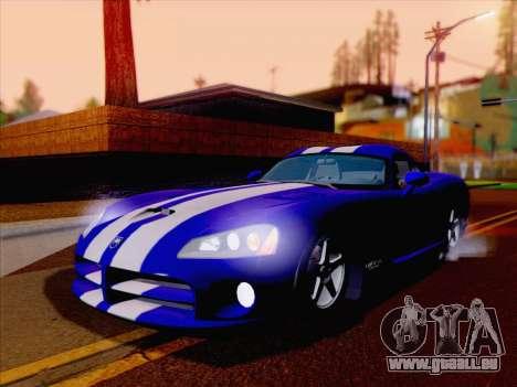 Dodge Viper SRT-10 Coupe pour GTA San Andreas sur la vue arrière gauche