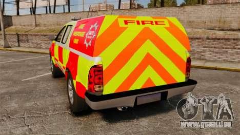 Toyota Hilux British Rapid Fire Cover [ELS] pour GTA 4 Vue arrière de la gauche