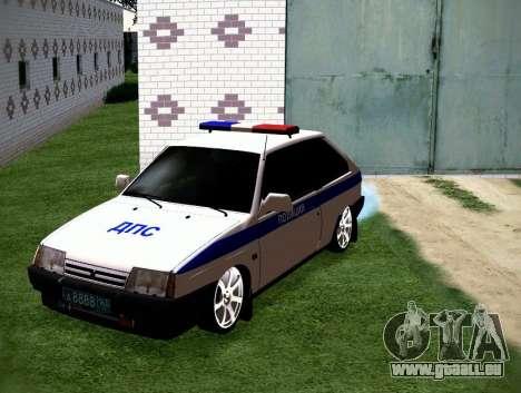 VAZ 2108 DPS pour GTA San Andreas vue arrière