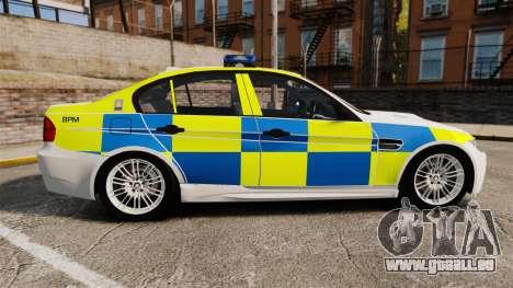 BMW M3 British Police [ELS] für GTA 4 linke Ansicht