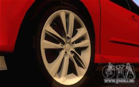 Opel Astra H pour GTA San Andreas sur la vue arrière gauche