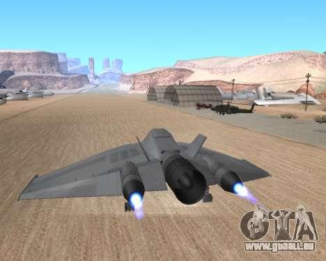 StarGate F-302 pour GTA San Andreas vue intérieure