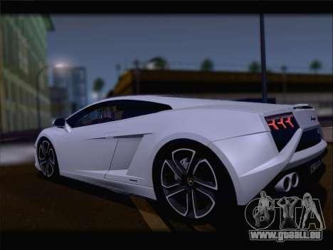 Lamborghini Gallardo 2013 für GTA San Andreas Rückansicht