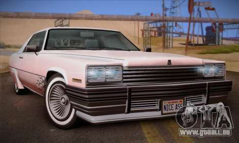 GTA V Manana pour GTA San Andreas vue arrière