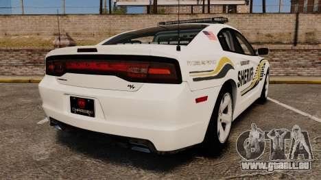 Dodge Charger RT 2012 Police [ELS] pour GTA 4 Vue arrière de la gauche