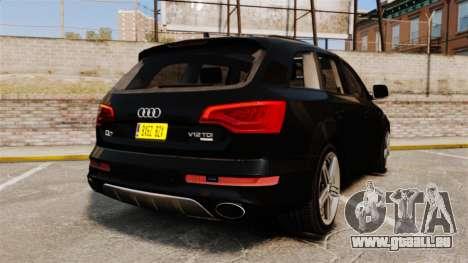 Audi Q7 Unmarked Police [ELS] pour GTA 4 Vue arrière de la gauche