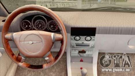 Chrysler Crossfire für GTA San Andreas zurück linke Ansicht