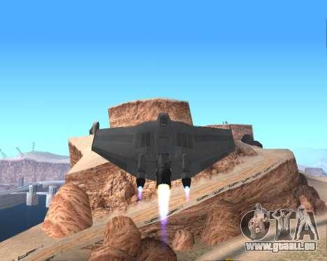 StarGate F-302 pour GTA San Andreas vue de dessus