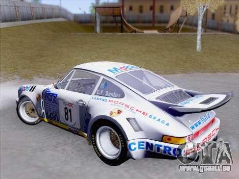 Porsche 911 RSR 3.3 skinpack 1 für GTA San Andreas Innenansicht