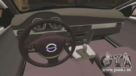 Volvo V70 Metropolitan Police [ELS] pour GTA 4 est une vue de l'intérieur