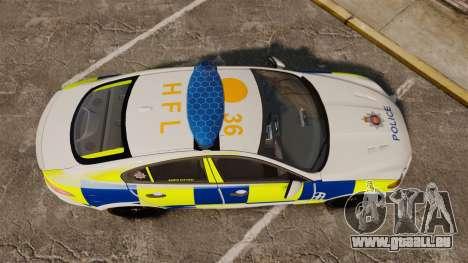 Jaguar XFR 2010 Police Marked [ELS] für GTA 4 rechte Ansicht