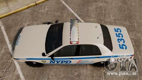 GTA V Vapid Police Cruiser NYPD für GTA 4 rechte Ansicht