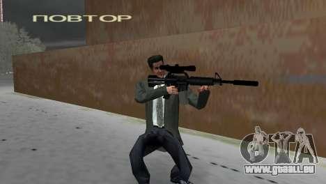 M4 avec le fusil de Sniper GTA Vice City pour la deuxième capture d'écran