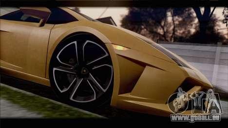 Lamborghini Gallardo LP560-4 Coupe 2013 V1.0 pour GTA San Andreas vue intérieure