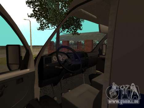 GAZ Police Sable pour GTA San Andreas vue arrière