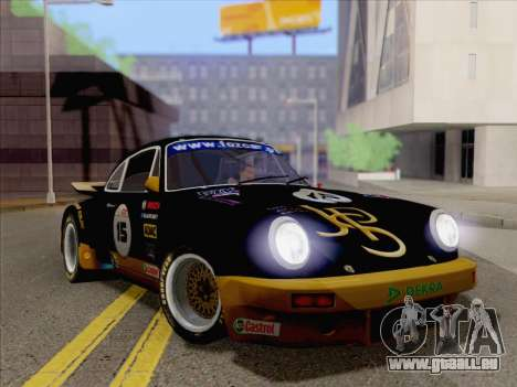Porsche 911 RSR 3.3 skinpack 2 für GTA San Andreas zurück linke Ansicht
