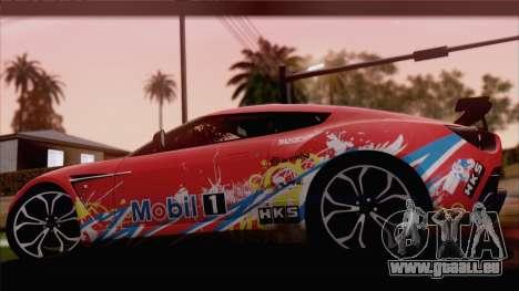 Aston Martin V12 Zagato 2012 [HQLM] für GTA San Andreas rechten Ansicht