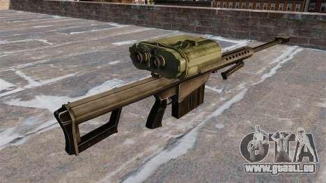 Scharfschützengewehr Barrett M82A3 für GTA 4 Sekunden Bildschirm