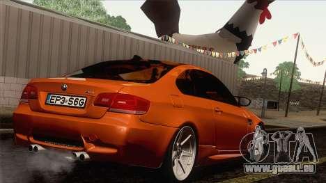 BMW M3 E92 2008 Vossen pour GTA San Andreas vue de côté