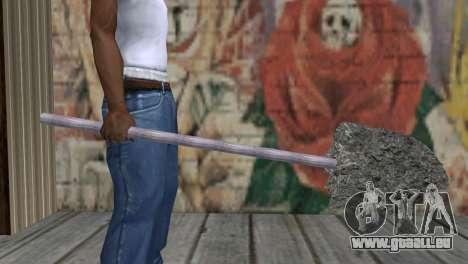 Rohr mit Beton für GTA San Andreas dritten Screenshot