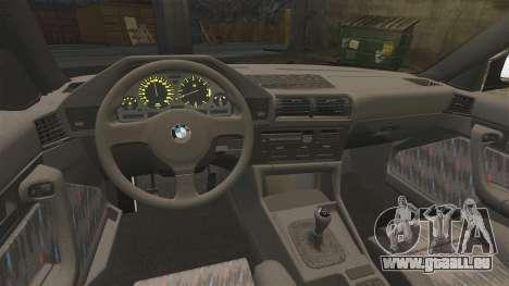 BMW M5 E34 für GTA 4 Rückansicht