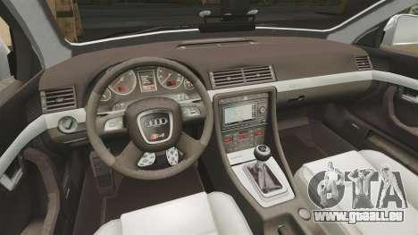 Audi S4 Avant Metropolitan Police [ELS] pour GTA 4 est une vue de l'intérieur