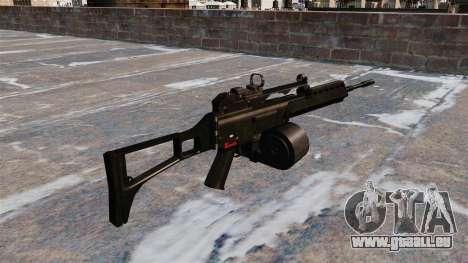 Fusil d'assaut HK MG36 pour GTA 4 secondes d'écran