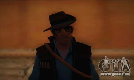 Sniper de peau de Team Fortress 2 pour GTA San Andreas troisième écran