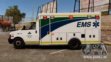 Brute Alberta Health Services Ambulance [ELS] für GTA 4 linke Ansicht