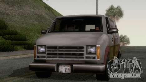 Hauben Rumpo XL von GTA 3 für GTA San Andreas zurück linke Ansicht