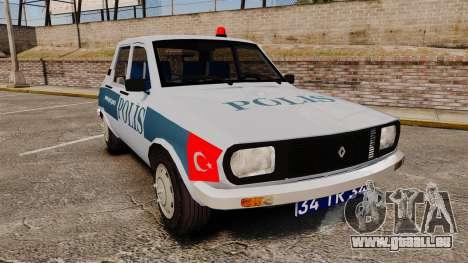 Renault 12 Turkish Police [ELS] für GTA 4