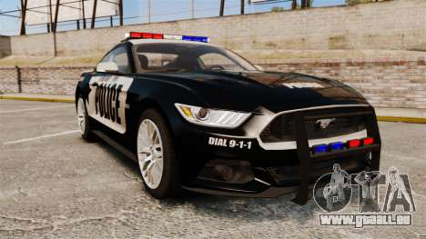 Ford Mustang GT 2015 Police für GTA 4