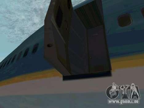 Boeing-747-400 Airforce one pour GTA San Andreas sur la vue arrière gauche
