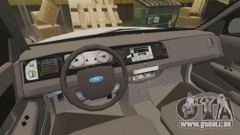 Ford Crown Victoria LCPD [ELS] pour GTA 4 Vue arrière