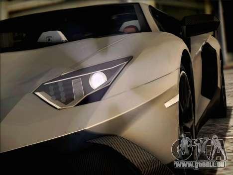 Lamborghini Aventador LP720 pour GTA San Andreas laissé vue