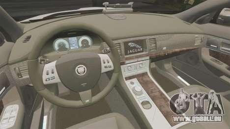 Jaguar XFR 2010 Police Marked [ELS] pour GTA 4 est une vue de l'intérieur