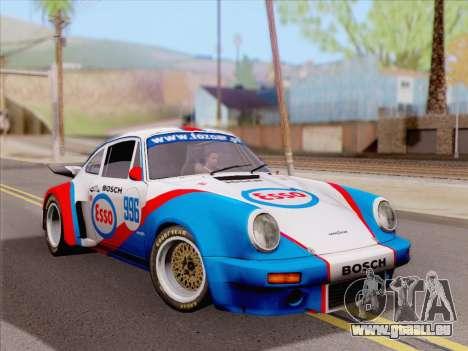 Porsche 911 RSR 3.3 skinpack 4 pour GTA San Andreas sur la vue arrière gauche