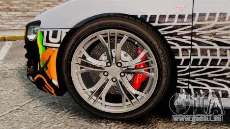 Audi R8 GT Coupe 2011 Drift für GTA 4 Rückansicht