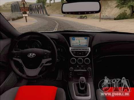 Hyundai Genesis Stance für GTA San Andreas rechten Ansicht