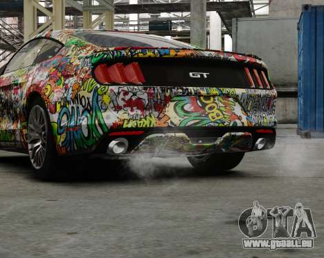 Ford Mustang GT 2015 Sticker Bombed pour GTA 4 est une gauche