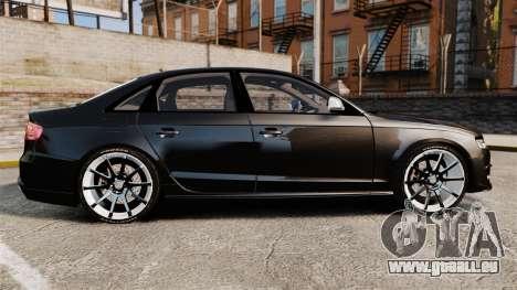 Audi S4 Unmarked Police [ELS] für GTA 4 linke Ansicht