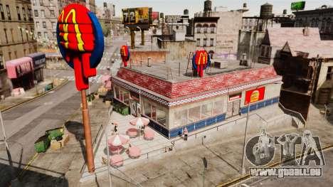 Essen, McDonalds und Taco Bell für GTA 4 Sekunden Bildschirm