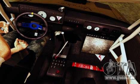 Lada 2105 VFTS für GTA San Andreas Unteransicht