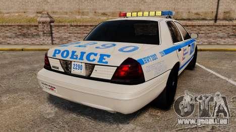 Ford Crown Victoria LCPD [ELS] für GTA 4 hinten links Ansicht